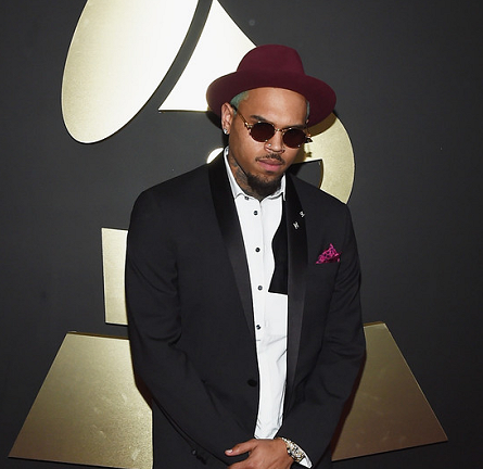 Chris Brown in DSquared2 | 2015 GRAMMYs