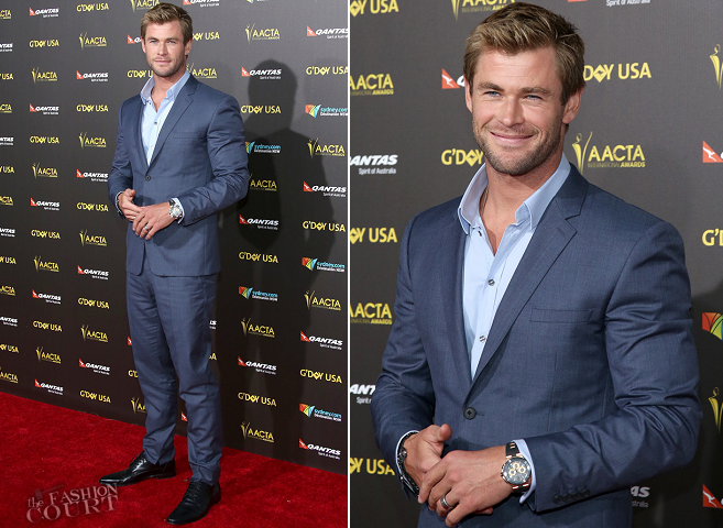 Chris Hemsworth in Burberry Prorsum | 2015 G'DAY USA & AACTA Awards Gala