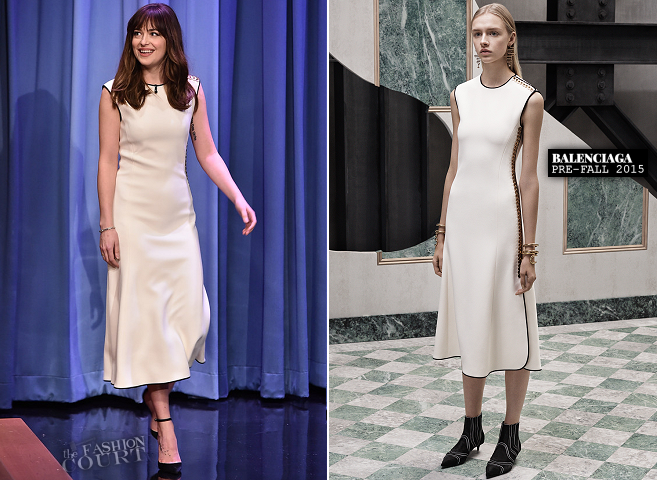 Dakota Johnson in Balenciaga | 'The Tonight Show Starring Jimmy Fallon'