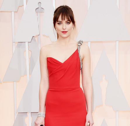 Dakota Johnson in Saint Laurent | 2015 Oscars