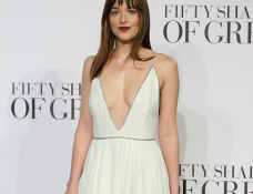Dakota Johnson in Saint Laurent | 'Fifty Shades of Grey' London Premiere
