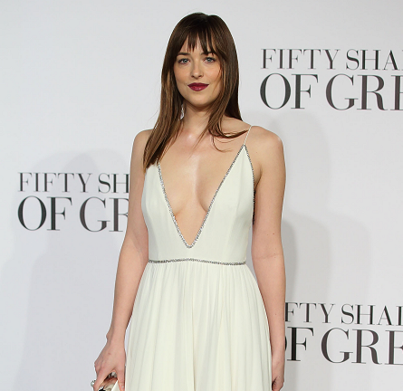 Dakota Johnson in Saint Laurent | 'Fifty Shades of Grey' London Premiere