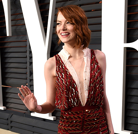 Emma Stone in Altuzarra | Vanity Fair Oscar Party 2015