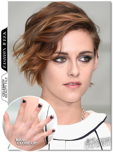 Get The Look: Kristen Stewart's Chanel Makeup Nail Polish - Chanel Couture Show at Paris Fashion Week