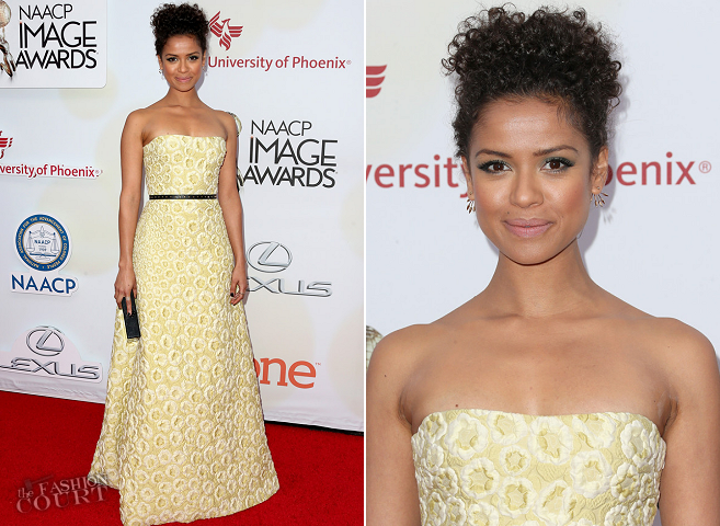 Gugu Mbatha-Raw in Burberry Prorsum | 2015 NAACP Image Awards