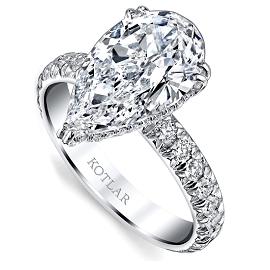 Harry Kotlar 8ct Diamond Pear Shape Ring