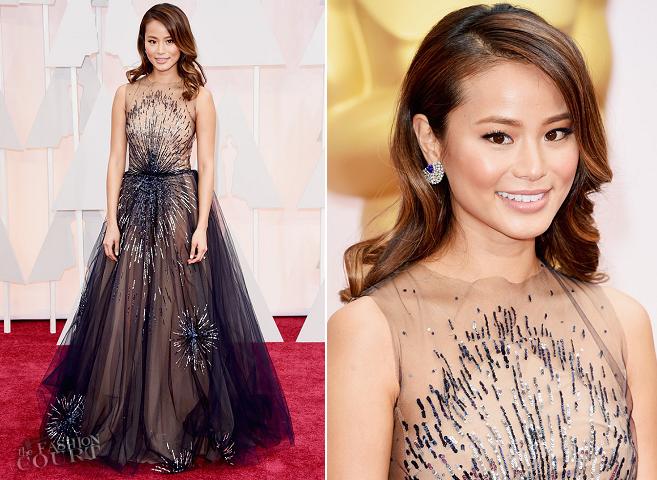Jamie Chung in Yanina Couture | 2015 Oscars
