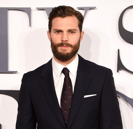 "Jamie Dornan in Alexander McQueen | ""Fifty Shades of Grey"" London Premiere"