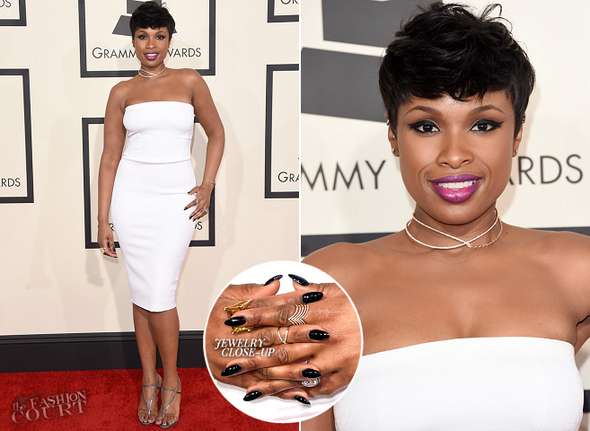 Jennifer Hudson in Tom Ford | 2015 GRAMMYs
