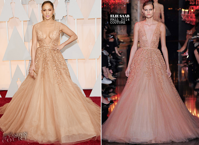 Jennifer Lopez in Elie Saab Couture | 2015 Oscars