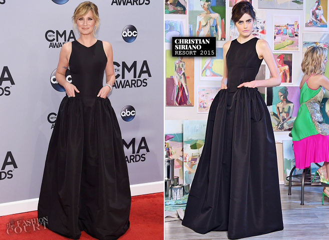 Jennifer Nettles in Christian Siriano | 2014 CMA Awards