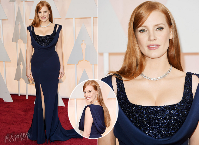 Jessica Chastain in Givenchy Couture | 2015 Oscars
