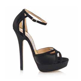 Jimmy Choo 'Patsy' Black Sandals