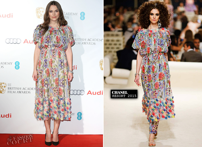 Keira Knightley in Chanel | 2015 EE British Academy Awards Nominees Party