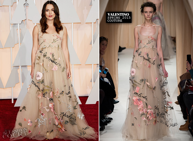 Keira Knightley in Valentino Couture | 2015 Oscars