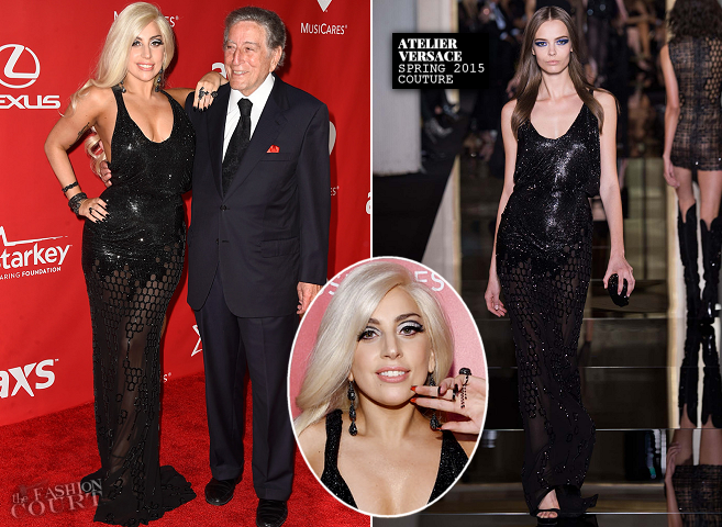 Lady Gaga in Atelier Versace | 2015 MusiCares Person Of The Year Gala