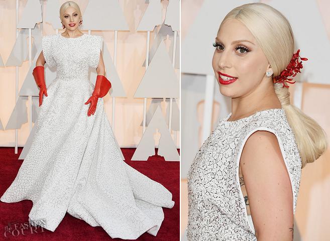 Lady Gaga in Azzedine Alaïa | 2015 Oscars