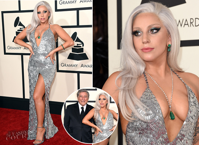 Lady Gaga in Brandon Maxwell | 2015 GRAMMYs