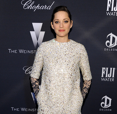 Marion Cotillard in Dior Couture | The Weinstein Company's Oscar Nominees Dinner 2015