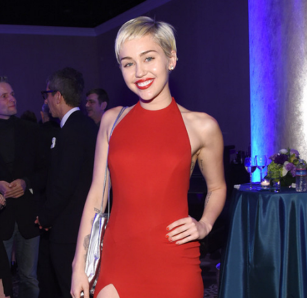 Miley Cyrus in Alexandre Vauthier | 2015 Pre-GRAMMY Gala