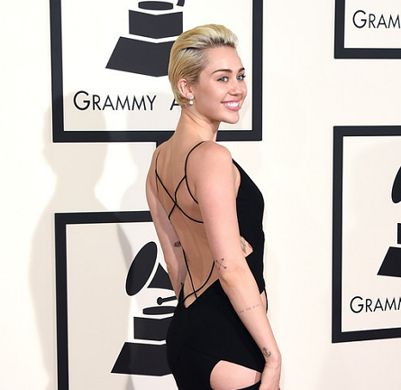 Miley Cyrus in Alexandre Vauthier Couture | 2015 GRAMMYs