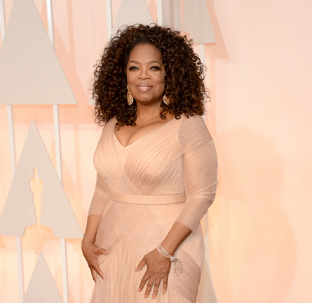 Oprah Winfrey in Vera Wang | 2015 Oscars