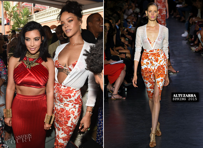 Rihanna in Altuzarra | Roc Nation Pre-GRAMMY Brunch 2015