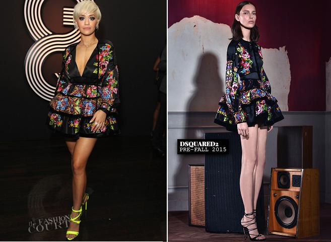 Rita Ora in DSquared2 | GQ & Giorgio Armani GRAMMYs After Party 2015
