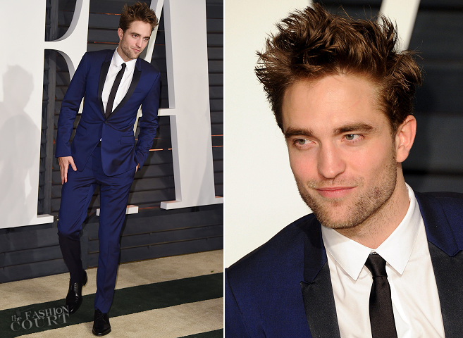 Robert Pattinson in Dior Homme | Vanity Fair Oscar Party 2015