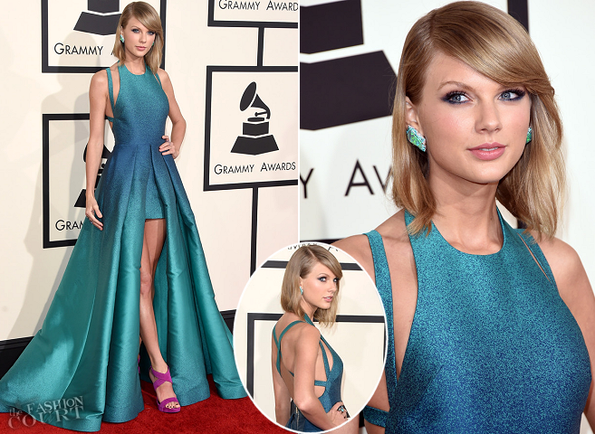 Taylor Swift in Elie Saab | 2015 GRAMMYs