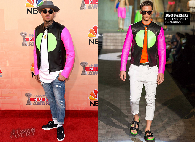 Chris Brown in Dsquared² | 2015 iHeartRadio Music Awards