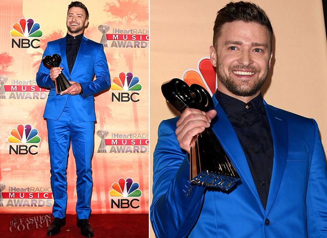 Justin Timberlake in Versace | 2015 iHeartRadio Music Awards