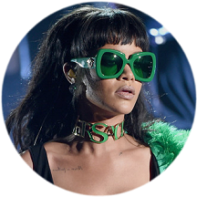 Rihanna in Versace & Adam Selman | 2015 iHeartRadio Music Awards
