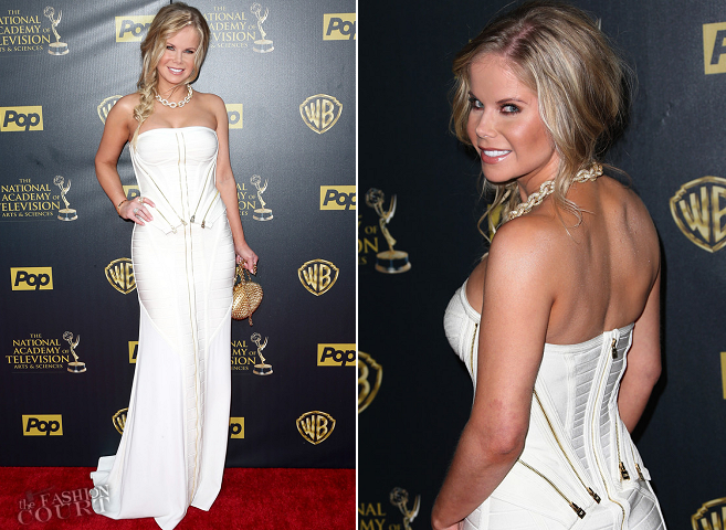 Crystal Hunt in Hervé Leger | 2015 Daytime Emmys