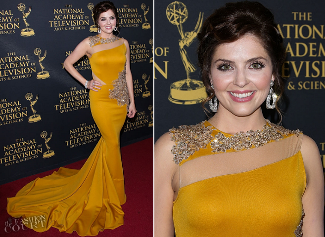 Jen Lilley in Walter Collection | 2015 Daytime Creative Arts Emmys