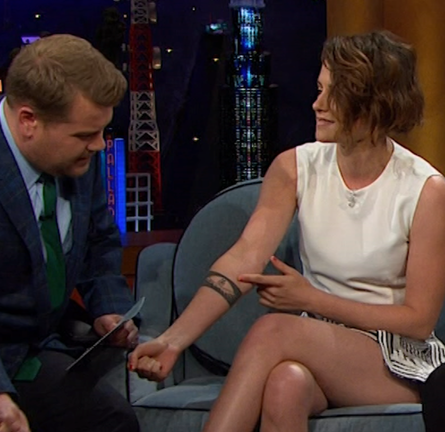 Kristen Stewart in PREEN | 'The Late Late Show with James Corden'