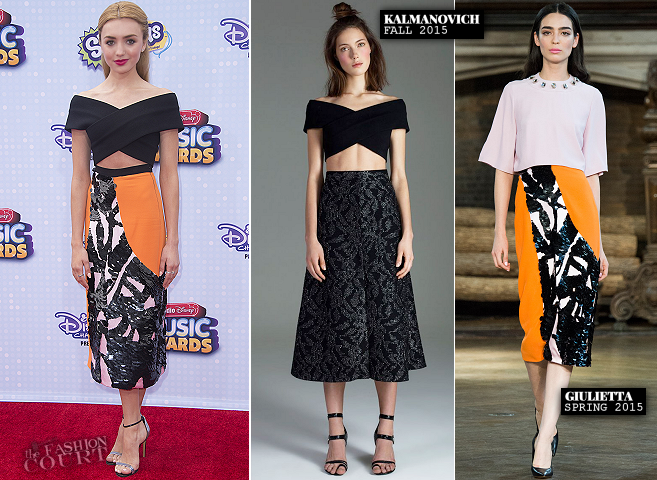 Peyton List in Kalmanovich & Giulietta | 2015 Radio Disney Music Awards