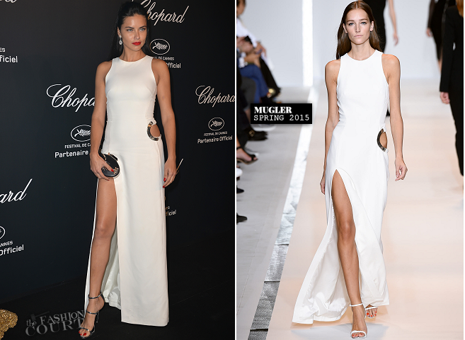 Adriana Lima in Mugler | Chopard Gold Party - 2015 Cannes Film Festival