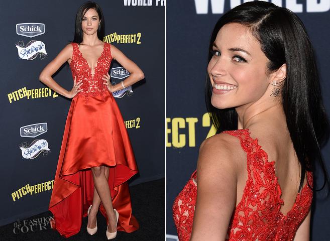 Alexis Knapp in Lorena Sarbu | 'Pitch Perfect 2' LA Premiere