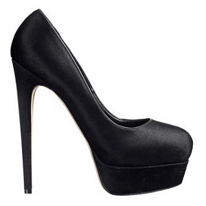Brian Atwood 'HAMPER' Platform Satin Pumps