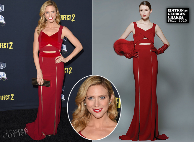 Brittany Snow in Edition by Georges Chakra | 'Pitch Perfect 2' LA Premiere