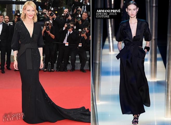 Cate Blanchett in Armani Privé | 'Sicario' Premiere - 2015 Cannes Film Festival