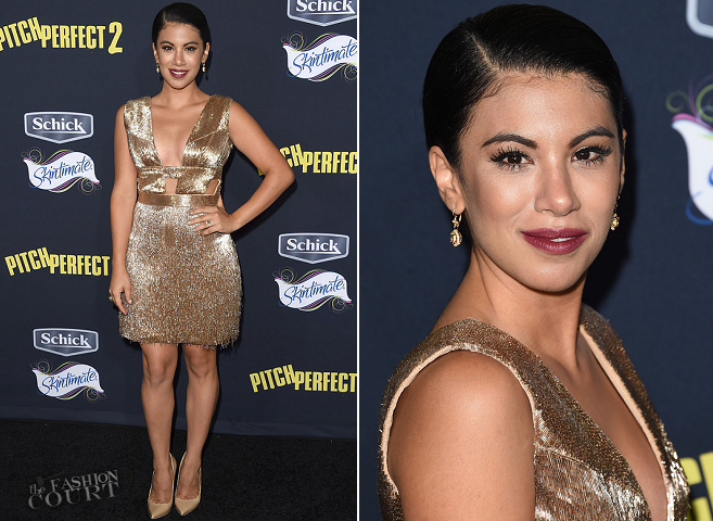 Chrissie Fit in Lorena Sarbu | 'Pitch Perfect 2' LA Premiere
