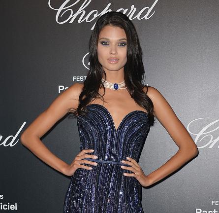 Daniela Braga in Elie Saab Couture | Chopard Gold Party - 2015 Cannes Film Festival