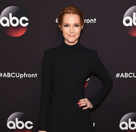 Darby Stanchfield in Rachel Zoe | ABC Upfronts 2015