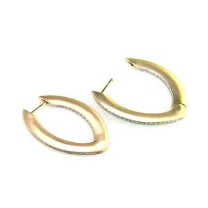 EFFY Jewelry Yellow Gold Diamond Hoop Earrings