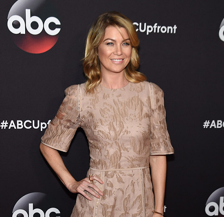 Ellen Pompeo in Elie Saab | ABC Upfronts 2015
