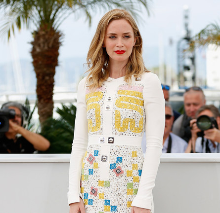 Emily Blunt in Peter Pilotto | 'Sicario' Photocall - 2015 Cannes Film Festival