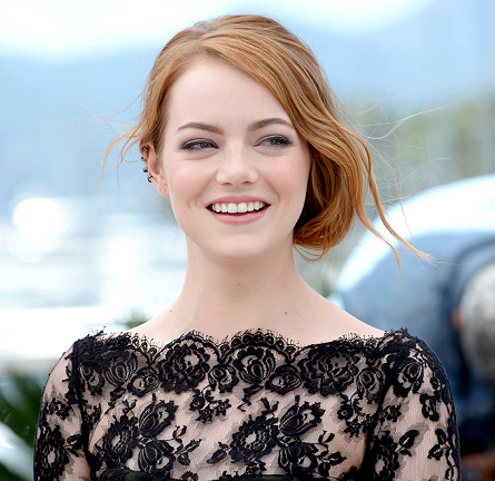 Emma Stone in Oscar de la Renta | 'Irrational Man' Photocall - 2015 Cannes Film Festival