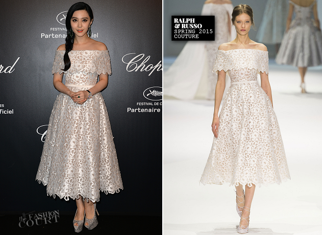 Fan Bingbing in Ralph & Russo Couture | Chopard Gold Party - 2015 Cannes Film Festival